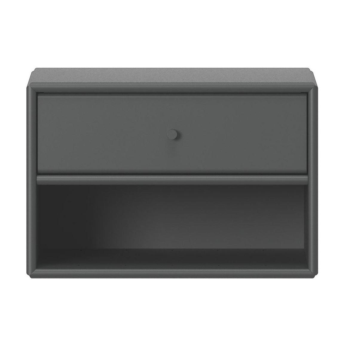 Montana - Dash Nachttisch - anthracite 04/lackiert/BxHxT 35|4x24x30cm | Schlafzimmer > Nachttische | Anthracite 04 | Mdf platte | Montana