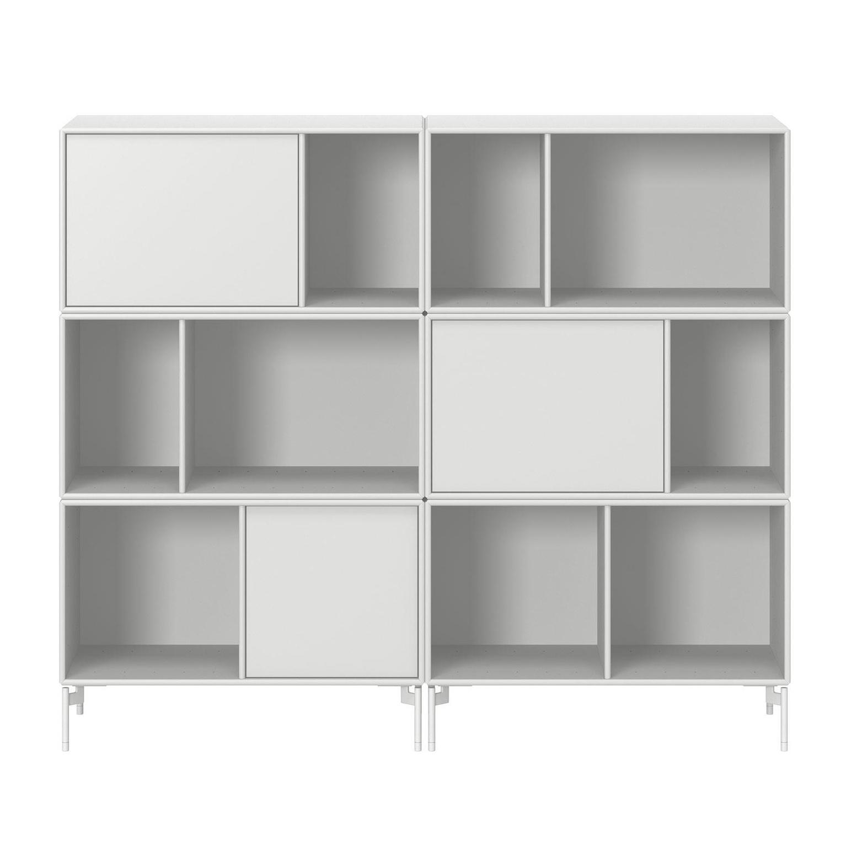 Montana - Commode Flutter - new white 101/laqué/lxHxP 139,2x118,8x38cm/pieds MB126 snow