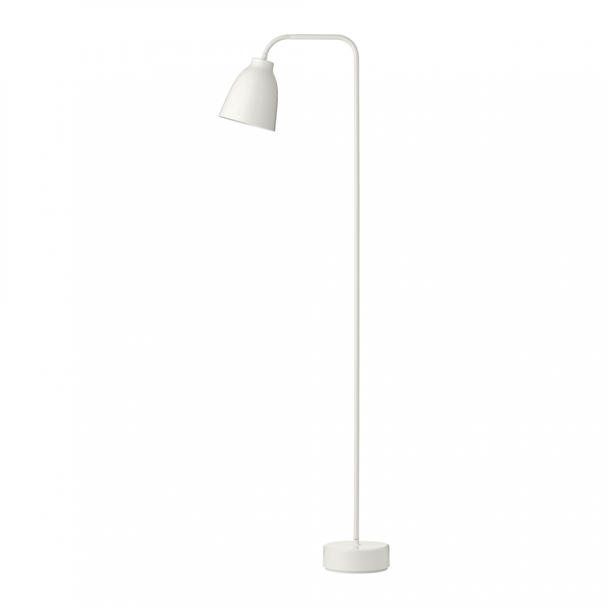 Fritz Hansen - Lampadaire de lecture Caravaggio™ Read - blanc/mat/LxlxH 36,2x16x110cm/câble blanc