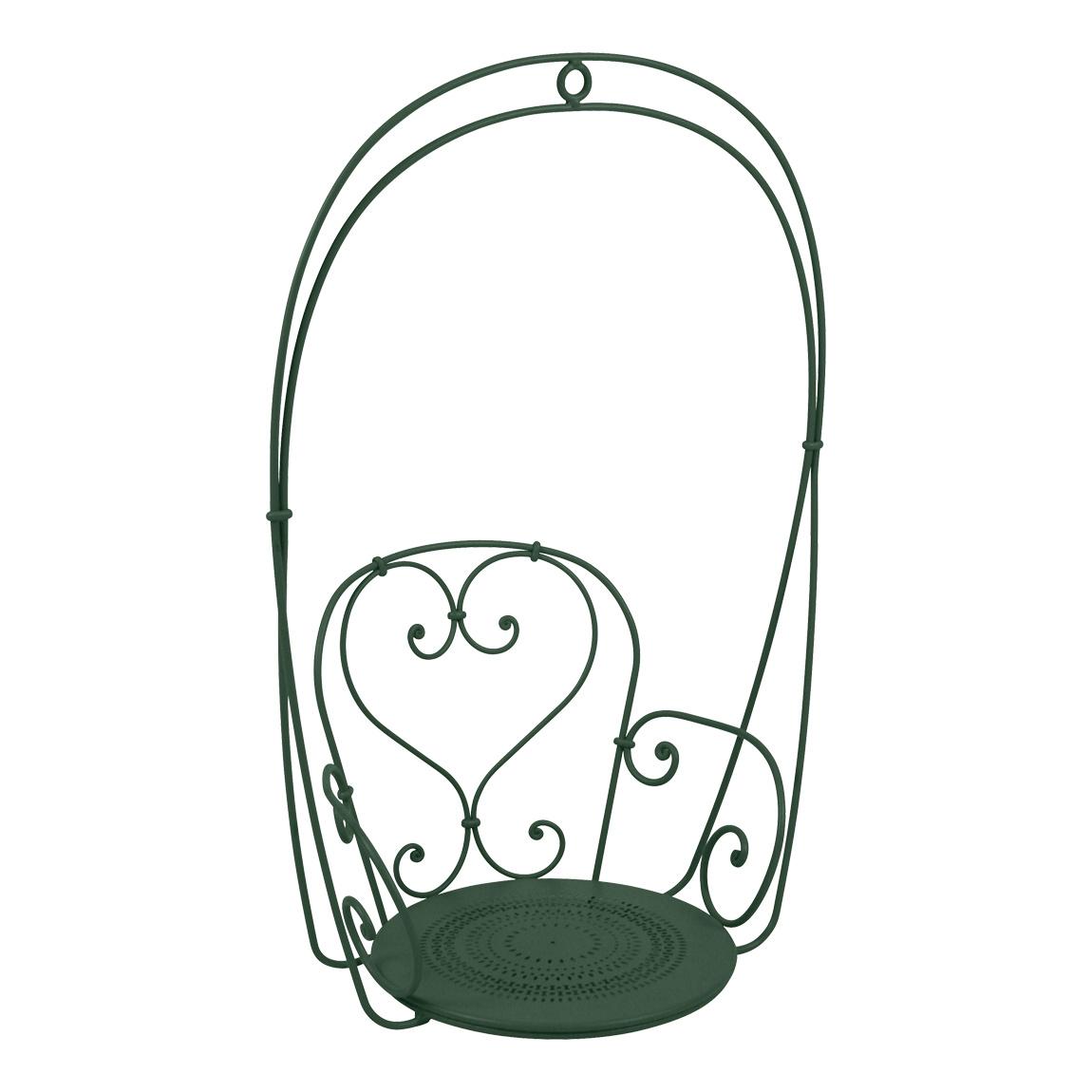 Fermob - 1900 Schaukelsessel - zederngrün/texturiert/BxHxT 74x110x54cm/UV-beständig | Wohnzimmer > Sessel > Schaukelsessel | Fermob