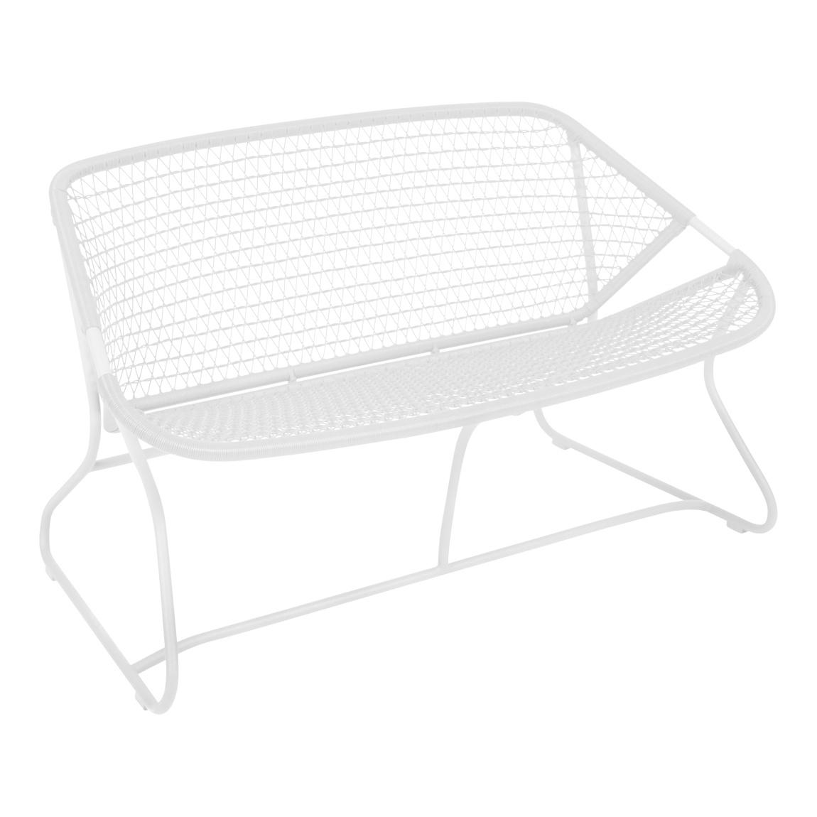 Fermob - Sixties Gartenbank - baumwollweiß/texturiert/Sitzfläche Polyethylen/UV-beständig | Garten > Gartenmöbel > Gartenbänke | Fermob