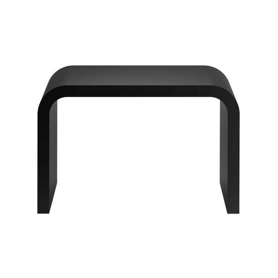 Decor Walther - Stone SCH - Tabouret - noir/mat/LxPxH 33x21,5x24,5cm