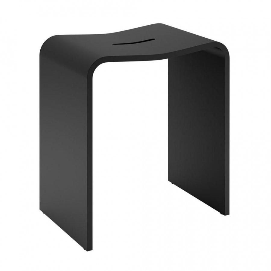 Decor Walther - Stone Stool - Tabouret de douche - noir/mat/LxPxH 40x28x46cm