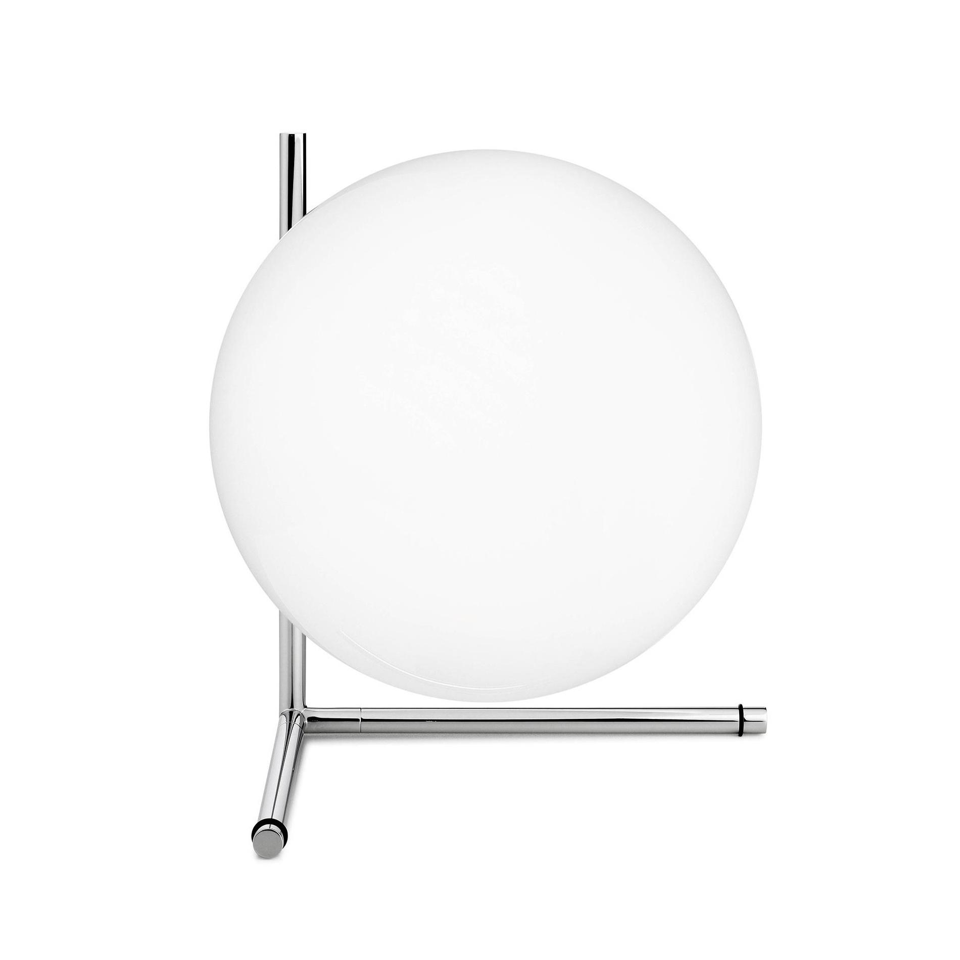 Flos - IC T2 - Lampe de table - chrome/brillant/H 35cm/Ø 30cm
