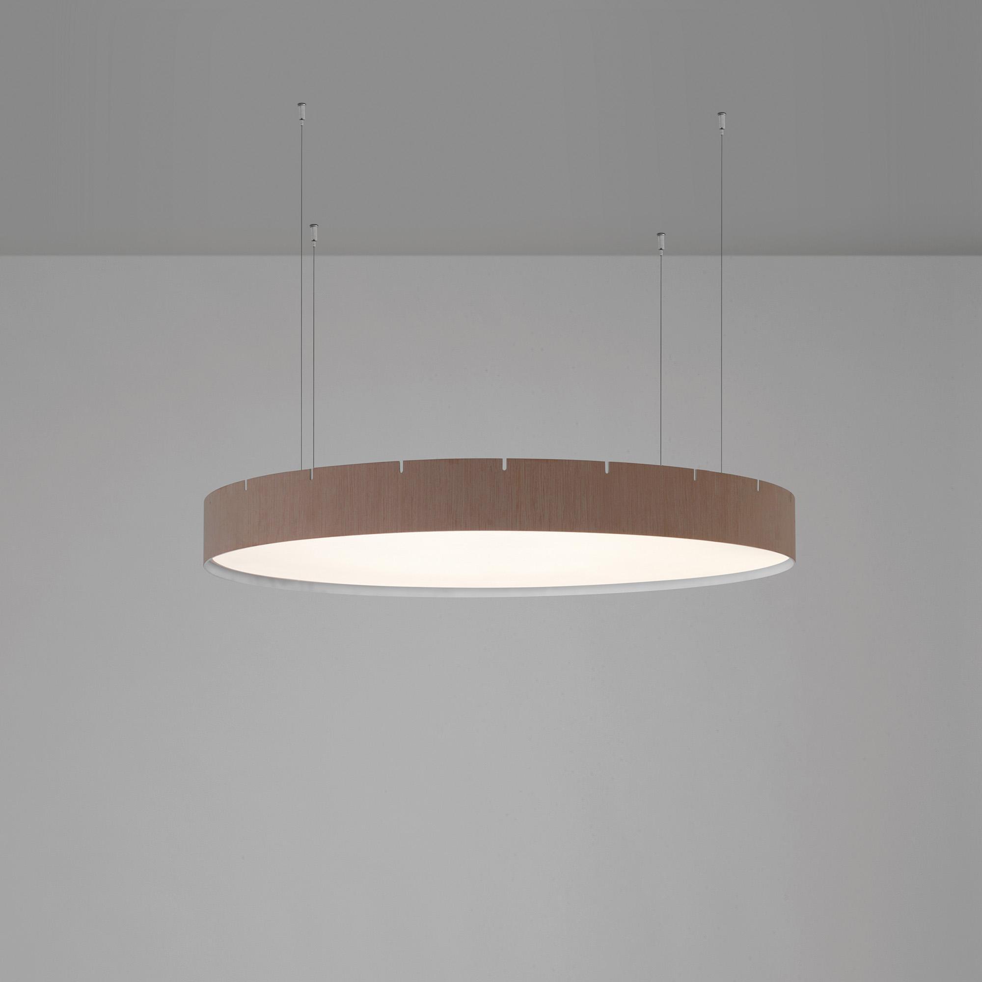 B.LUX - Suspension LED Castle S60 - chêne/naturel/Ø 60cm/3000K - 3416lm - CRI>90