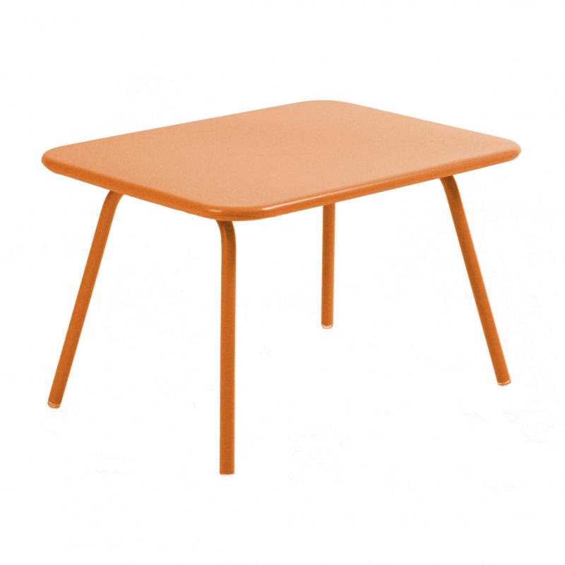 Fermob - Luxembourg Kid Kindertisch - karotte/lackiert/LxBxH 75.5x55.5x47cm   Kinderzimmer > Kindertische   Karotte   Lackiertes stahlblech   Fermob