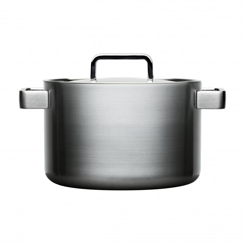 iittala - Tools Topf mit Deckel 5.0L - edelstahl/gebürstet/Ø 22cm | Küche und Esszimmer > Kochen und Backen > Töpfe | iittala