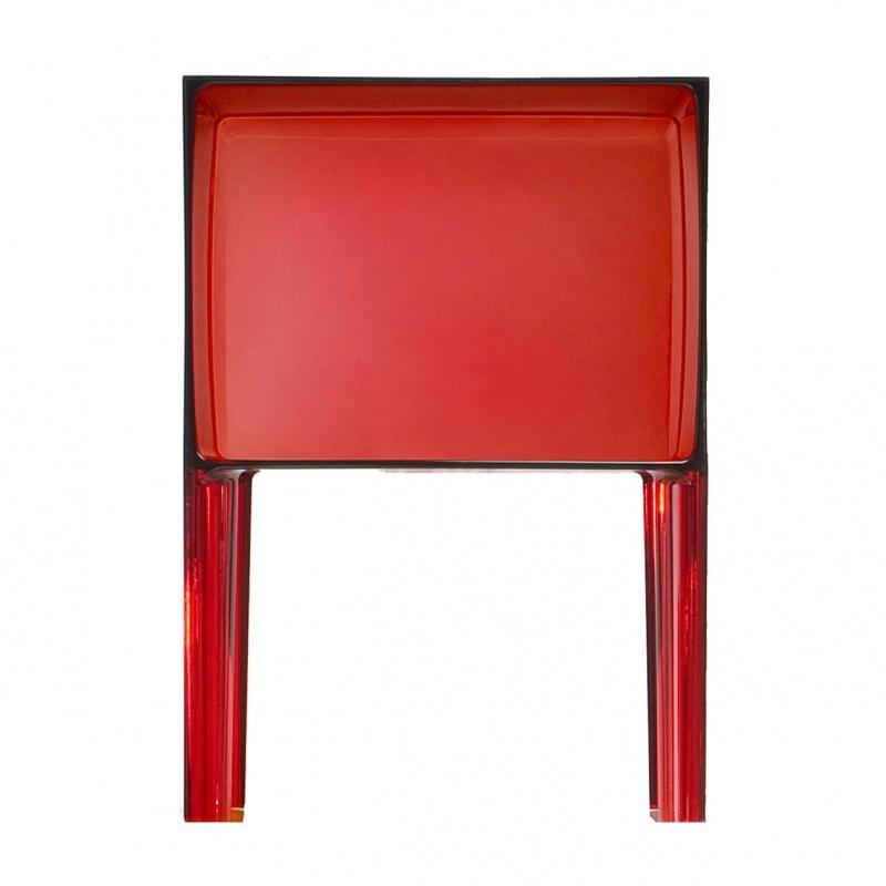 Kartell - Small Ghost Buster Nachttisch - rot/transparent | Schlafzimmer > Nachttische | Rot | Kunststoff | Kartell