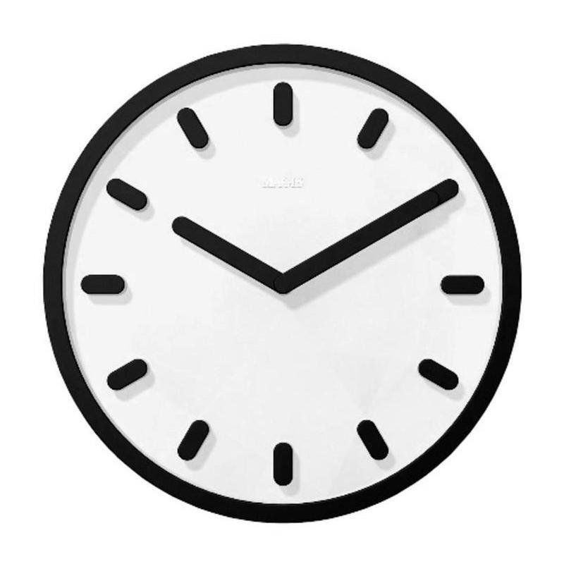 Magis - Tempo Wanduhr - weiß/schwarz | Dekoration > Uhren > Wanduhren | Magis