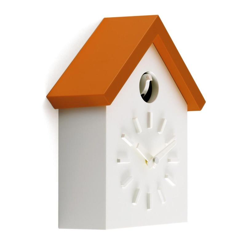 Magis - Cu-Clock Kuckucksuhr - weiß/orange | Dekoration > Uhren > Kuckucksuhren | Weiß/orange | Kunststoff | Magis