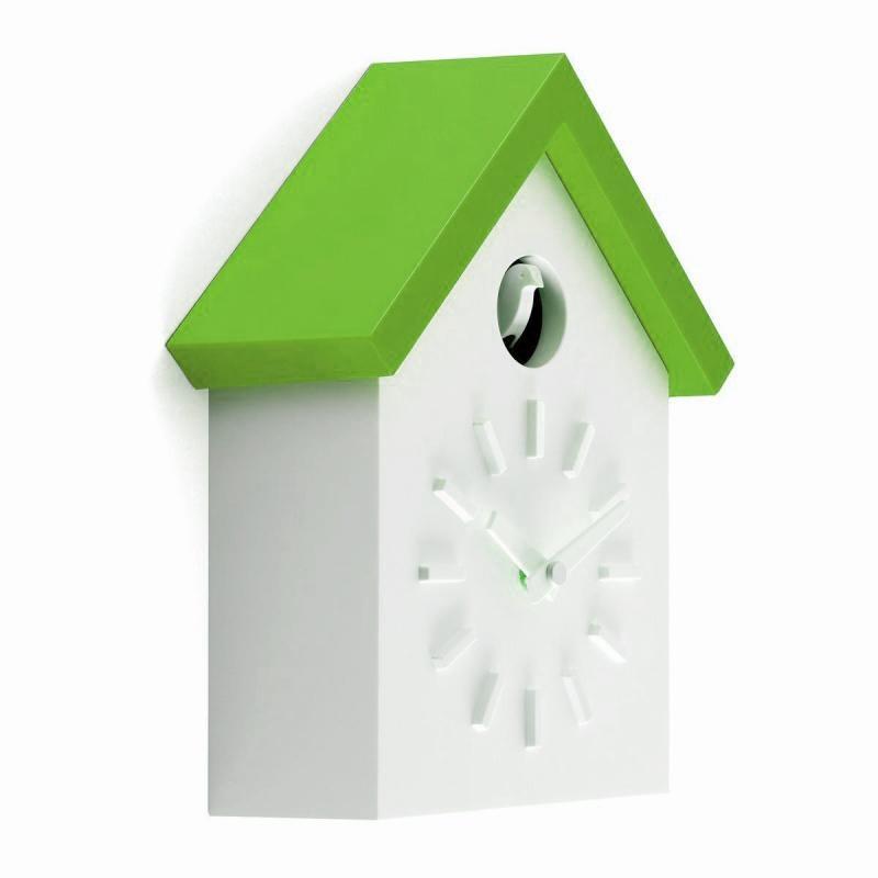 Magis - Cu-Clock Kuckucksuhr - weiß/grün | Dekoration > Uhren > Kuckucksuhren | Magis
