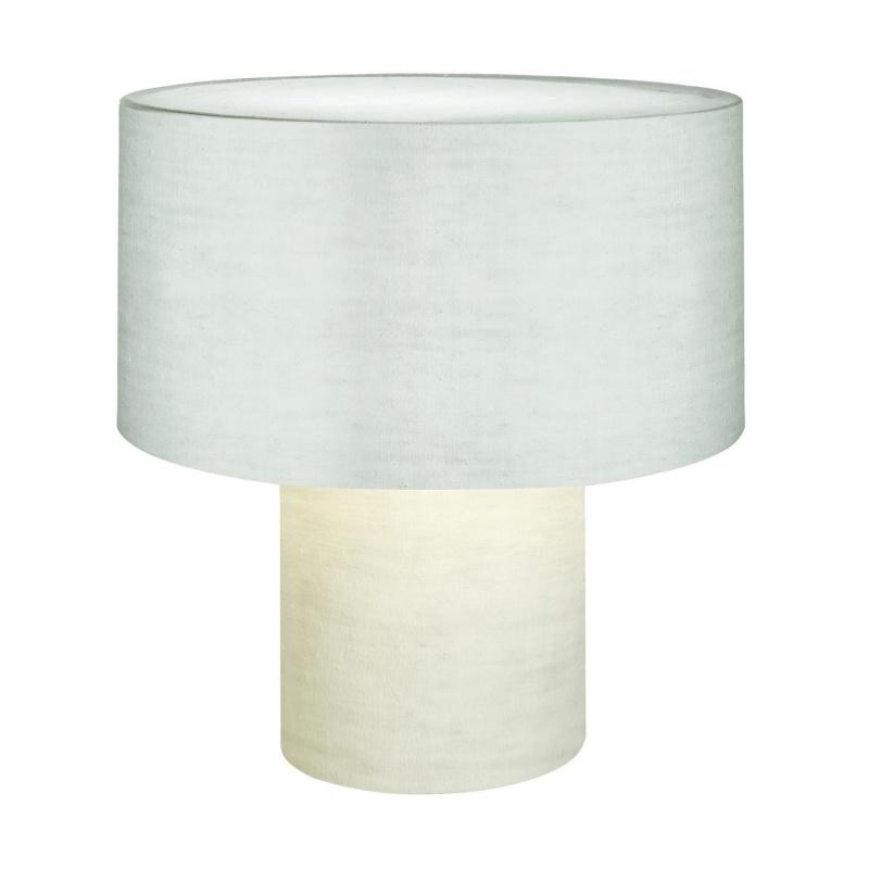 Diesel - Lampe de table Pipe - blanc/h:53cm/Ø49cm/lin avec un couche polymère