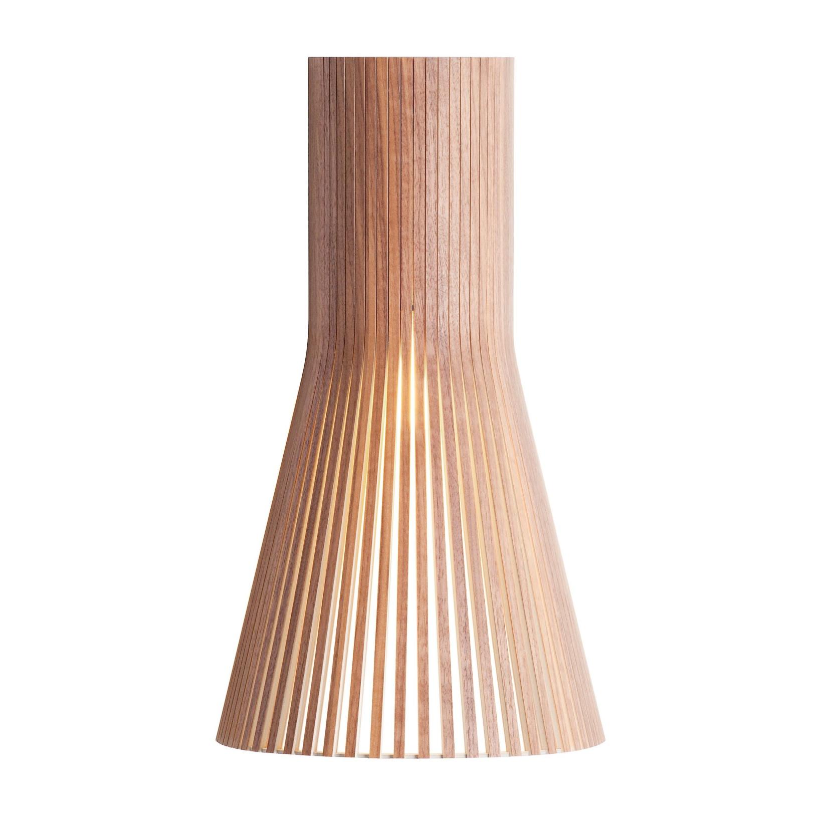 Secto Design - Secto 4231 - Applique Murale - noix naturel/feuille de placage/incl. ampoule LED 2800K/470lm/câble blanc