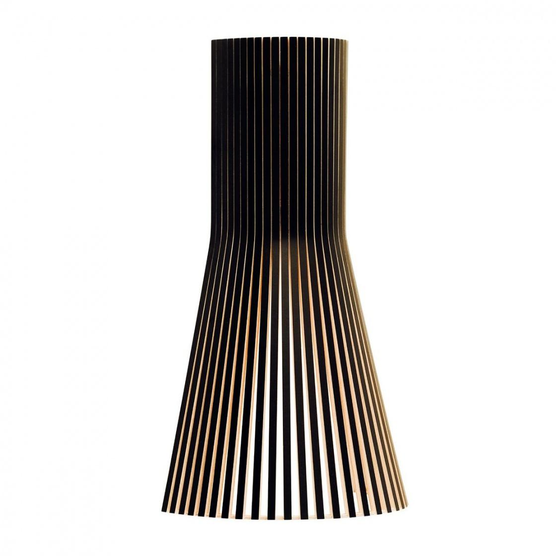 Secto Design - Secto 4231 - Applique Murale - noir/laminé/incl. ampoule LED 2800K/470lm/câble blanc