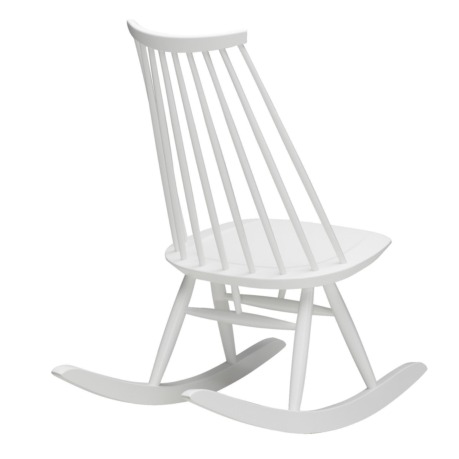 Artek Mademoiselle Rocking Schaukelstuhl - weiß/lackiert   Wohnzimmer > Stüle > Schaukelstühle   Weiß   Birkenholz lackiert oder gebeizt   Artek