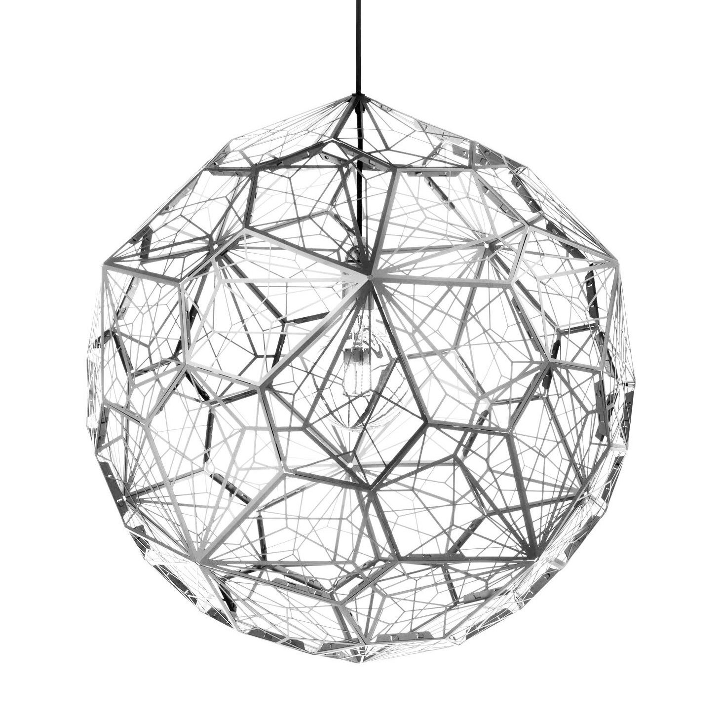 Tom Dixon - Etch Light Web Suspension Lamp - stainless steel/Ã60cm