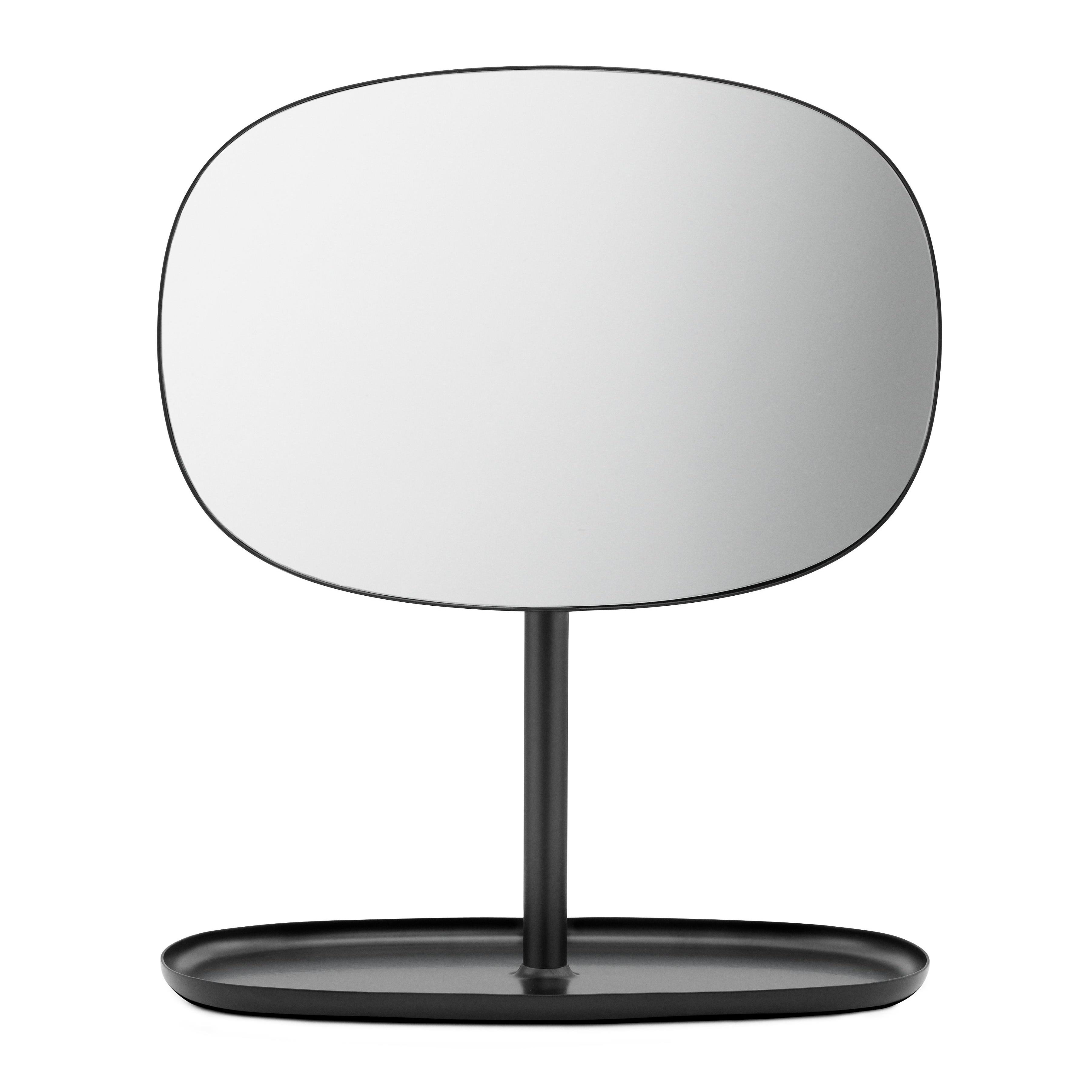 Normann Copenhagen - Flip Kosmetikspiegel - schwarz/BxHxT 28x34|5x19|5cm | Bad > Bad-Accessoires > Kosmetikspiegel | Schwarz | Stahl| spiegelglas | Normann Copenhagen