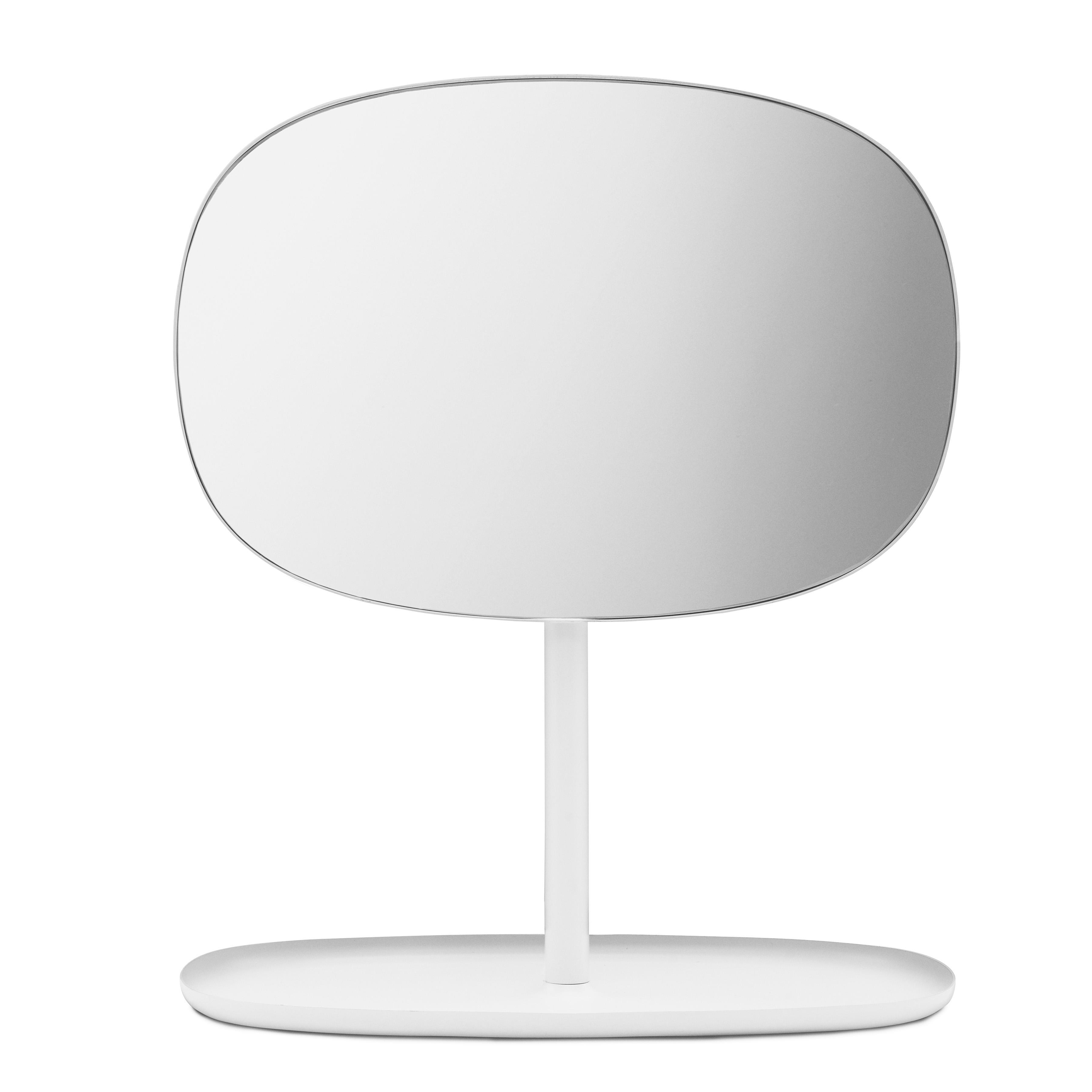 Normann Copenhagen - Flip Kosmetikspiegel - weiß/BxHxT 28x34|5x19|5cm | Bad > Bad-Accessoires > Kosmetikspiegel | Weiß | Stahl| spiegelglas | Normann Copenhagen
