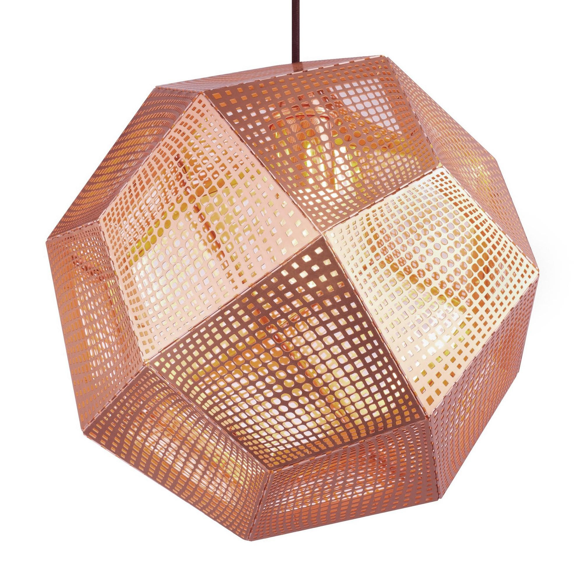 Tom Dixon - Etch Shade Suspension Lamp Ã32cm - copper