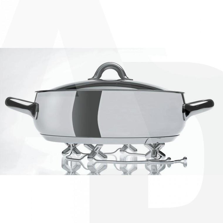 Alessi - GCH01 - TRIPOD - Dessous de plat à pièces mobiles en zamac chromée